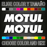 Vinilo adhesivo MOTUL, 2 unidades, pegatina, aufkleber, logo, moto, car, decal.