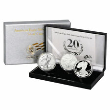 2006 20th Anniversary American Silver Eagle US Mint ASE Silver Dollar 3 Coin Set