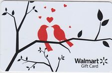 WalMart Love Birds on Tree Branch Red Hearts 2015 Gift Card Collectible FD-45522