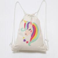 Linen Sublimation Blank DIY Drawstring Storage Bag/Backpack for Travel School