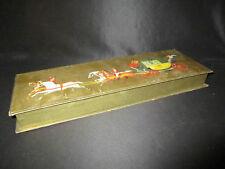 ancienne boîte de chocolat de noël décor de diligence milieu XX ème