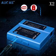 2pcs Blue USB Tester Networking Cable LAN RJ45 RJ11 RJ12 Cat5 Cat6  LED display