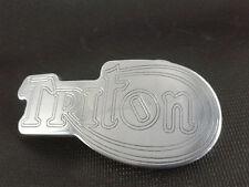 Triton Triumph Norton Gurt Schnalle poliert Aluminium CNC Gravur