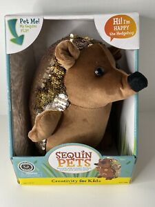 Creativity for Kids Sequin Pets Stuffed Animal Happy the Hedgehog Plush Toy A42
