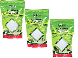 3 x 750g NIRVANA ORGANICS Organic Xylitol