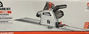 Ozito 165mm 1200W Plunge Track Saw Kit 2 x 700mm guide rails /clamps included