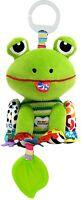 LAMAZE - Jibber Jabber Jake Frog - Soft Clip on Pram / Baby Toy - 0+ months