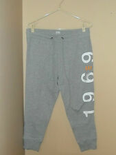 GAP Comfortable Women's Relaxed Fit Gray Crop Sweatpants Cuffed Leg Small