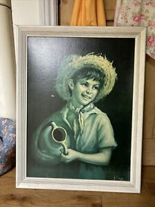 Country Boy Tovine Vintage Mid Century Art Print Picture Frame J H Lynch Shabner