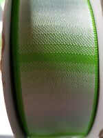 Lime Green Silver Ribbon Wire Edge 45 Metre Roll Christmas Decor Cakes Florist