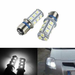 2x 380 1157 P21/5W BAY15d 18 SMD LED Tail Brake Stop Fog Light Bulbs Xenon White