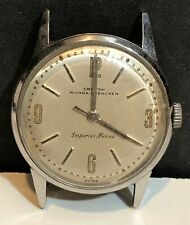 Mens Croton Nivada Grenchen Imperial Series Swiss Watch Vintage Stainless Steel