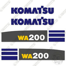 Komatsu WA 200 5 Decal Set Wheel Loader Decals