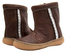 LIVIE & LUCA INFANT BOY or GIRL UNISEX BROWN LEATHER BOOT w/ZIPPER   6