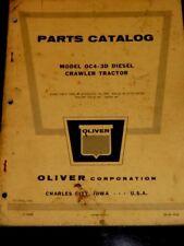 Oliver Parts Catalog Model OC4-3D Diesel Crawler Tractor (1960)