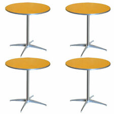 """4 Restaurant Cafe 30"""" Round Cocktail Table 2 Adjustable Height Wood Bistro Table"""