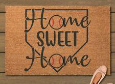 Hand Painted Home Sweet Home Door Mat - Baseball