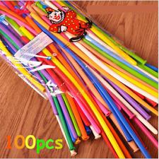 100X Mixed Color Long Magic Balloons Celebration Party Wedding Birthday Kids Fun
