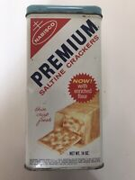 Nabisco Premium Saltine Crackers Vintage Metal Tin With Lid