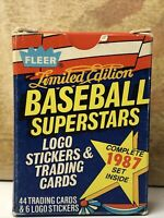 1987 Fleer Limited Edition Baseball Superstars 44 Trading Cards Factory Set! ⚾️