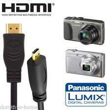 Panasonic DMC-GH4HEB, DMC-TZ55, DMC-TZ60 Camera HDMI Micro TV Monitor 1.8m Cable