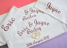 Personalised Wedding Towel Set / His and Her Towels / Anniversary 2nd Wedding To