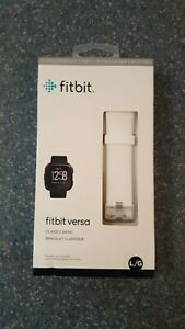 Genuine OEM Original Fitbit Versa Band - Classic Band - White Size L/G Unopened