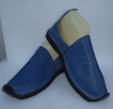 BEST QUALITY MOROCCAN LEATHER BABOUCHE Slippers * BLUE *  ALL SIZES