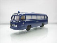 Brekina Mercedes-Benz 0 321 THW Einsatzleitung Bus Blue 1/87 Good Condition