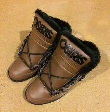 Osiris NYC 83 Shearling Size 8.5 Brown Black BMX DC MOTO Skate Shoes $85 Box