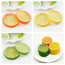 10X Artificial Plastic Lemon Slices Lifelike Fake Fruit Wobble Decorative Props
