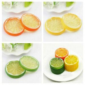 10X Artificial Plastic Lemon Slices Lifelike Fake Fruit Wobble Decorative Props