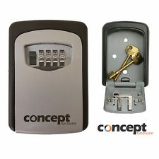 Outdoor Wall Mounted Safe Key Box with 4 Digit Lock Waterproof Cover Home Car UK