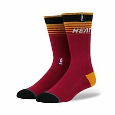 STANCE MIAMI HEAT LOGO 558 SOCKS NBA CORE COLLECTION MENS LARGE 9-12