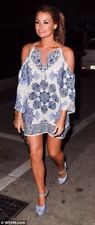 ZARA WHITE BLUE OFF THE SHOULDER PRINTED DRESS SOLD OUT REF 2563 / 746 / 251