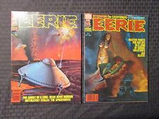 1980 EERIE Warren Horror Magazine LOT of 2 #113 VF- 114 VF-
