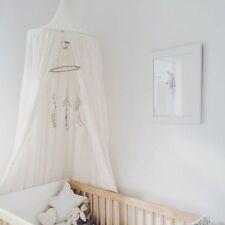 Neu Kinder Bettwäsche Runde Dome Bett Baldachin Netting Moskitonetz Vorhang Weiß