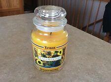 Yankee Candle Sunflower Days 22 oz burned twice black band