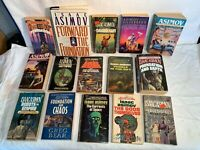 Lot 14 vintage ISSAC ASIMOV Science Fiction Books 70s-90s SPACE ALIEN Lucky Star