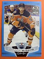 2019-20 O-Pee-Chee All Star Blue Border #314 Connor McDavid Edmonton Oilers