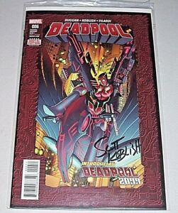 Deadpool #6! (2016) 1st Deadpool 2099! Signed-Scott Koblish! VF! COA!
