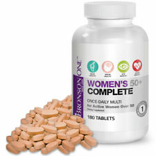Bronson ONE Daily Womens 50+ Complete MultiVitamin MultiMineral, 180 Tablets