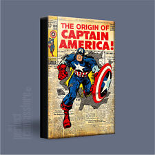 CAPTAIN AMERICA COMIC COVERS SERIES VINTAGE ICONIC CANVAS ART PRINT Art Williams
