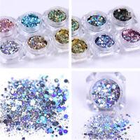 1g Holographic Nail Powder Glitter Sequins Flake Nail Art Decorations