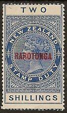 "Islas Cook 1926 KGV ""meridional"" 2/- Azul SG85"