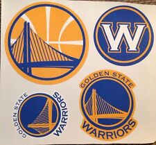 "lot of 4 logo's largest 9"" x 9"" Golden State Warriors Fathead Vinyl Wall Graphic"