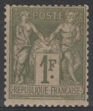 "FRANCE STAMP TIMBRE N° 82 "" SAGE 1F OLIVE CLAIR 1883 "" NEUF xx TB   M380"