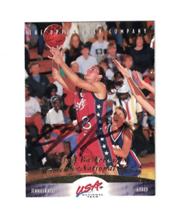 Jennifer Azzi UCONN Huskies Team USA WNBA Basketball Signed Card W/Our COA