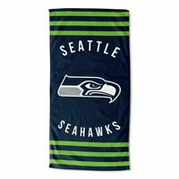 "NFL Seattle Seahawks Stripes Beach Towel 30"" x 60"" Multicolor"