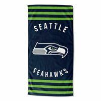 "NFL Seattle Seahawks Stripes Beach Towel 30"" x 60"" Multicolor"